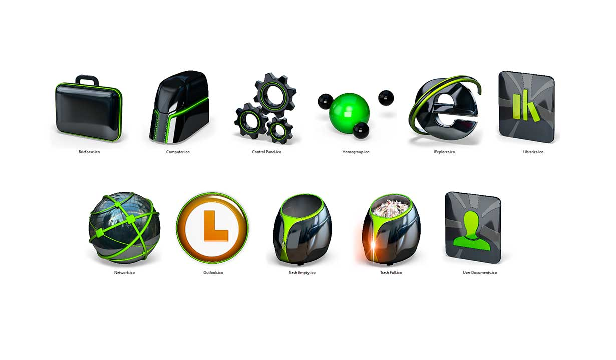 PNG icons for desktop