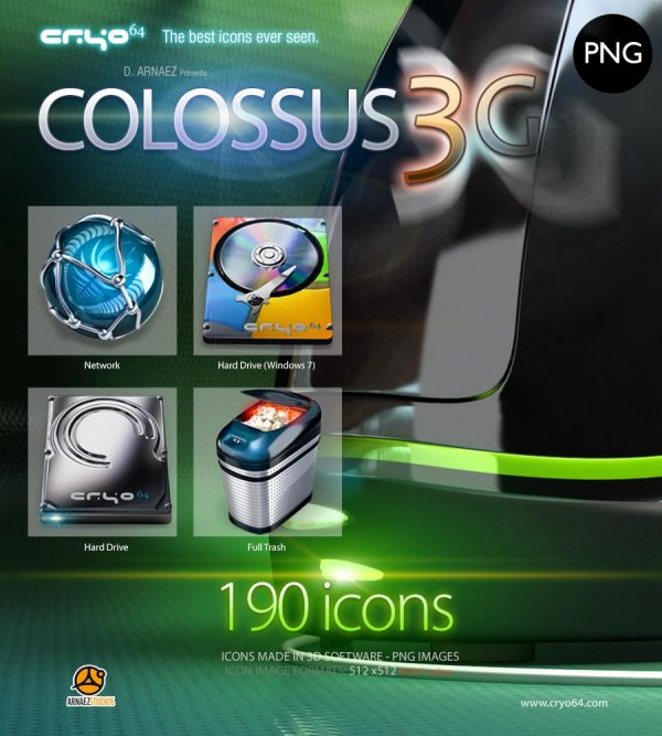 Colossus 3G - PNG Icons