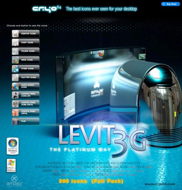 Levit 3G - Icon Theme Windows XP