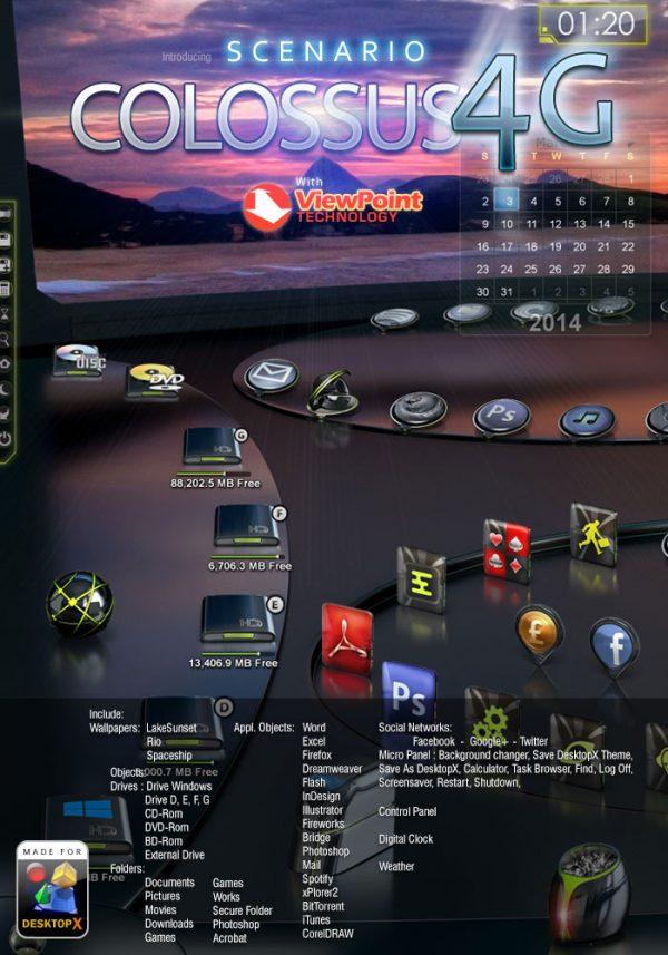 Desktopx Theme Colossus 4g