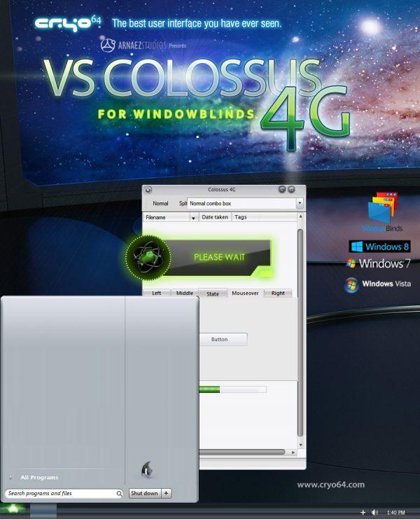 VS Colossus 4G - Windowblinds Theme