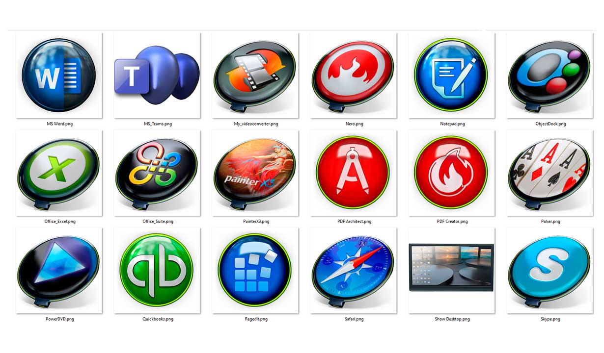 PNG icons apps